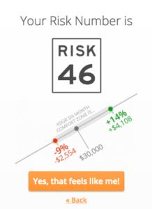 Low Financial Risk Tolerance Score