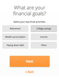 Financial Risk Tolerance Goals Question