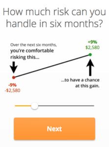 Financial Risk Tolerance Sample Question